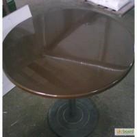 Круглый стол из литого камня мрамора