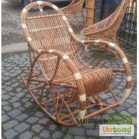 Плетеное кресло качалка, В полоску