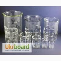 Стаканы мерные, лабораторные, стеклянные со шкалой 50 мл, 100 мл, 250 мл, 400 мл, 60