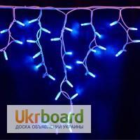 Бахрома светодиодная, гирлянды для улицы, новогодняя подсветка дома