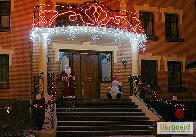 Фото 4. Бахрома светодиодная, гирлянды для улицы, новогодняя подсветка дома
