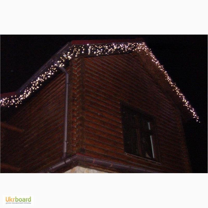 Фото 6. Бахрома светодиодная, гирлянды для улицы, новогодняя подсветка дома