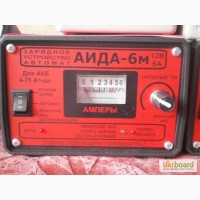 Зарядное АИДА-6м - автомат + ручной заряд + десульфатация для 12В АКБ 4-75 А