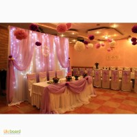 Оформление выездной церемонии, украшение свадебного зала 1000 грн. Украсим свадебный стол
