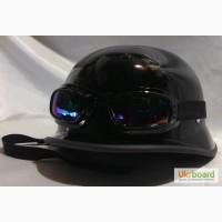 Мотошлем немецкая каска, немецкий шлем, глянец, 200грн