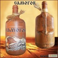 Оформление бутылки под Самогон подарок мужчине на новый год