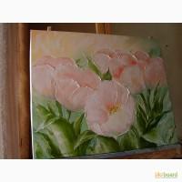 Картина маслом Тюльпани2 50х60