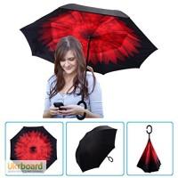 Зонт обратного сложения, который освободит Ваши руки