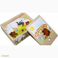 Винни Пух, деревянные кубики 12шт. Развивающая игрушка из дерева