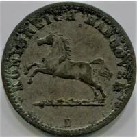 Ганновер 1 грош 1858 год СЕРЕБРО!!!!!! СОСТОЯНИЕ