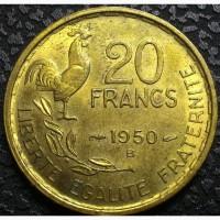 Франция 20 франков 1950 год, ОТЛИЧНОЕ СОСТОЯНИЕ