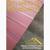 Профнастил матовый ВИШНЁВЫЙ, RAL 3005, матовый профлист для забора и крыши