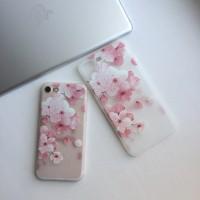 Чехол силиконовый «Цветы» на iPhone 7plus