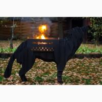 Арт Мангал волк (3D мангал)