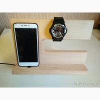 Подставка для телефона деревянная