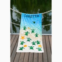 Полотенце Lotus пляжное Caretta 75×150 велюр Турция
