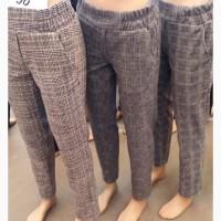 Модные женские брюки шерсть клетка, размеры 42-56 опт и розница