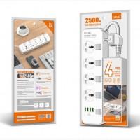 Сетевой удлинитель LDNIO SC5006 на 5 розеток Удлинитель сетевой Ldnio SC5006 |2500W, 2m