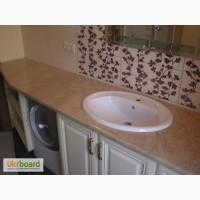 Столешница мраморная, столик в ванную из мрамора-3500 грн