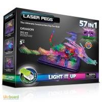 Светодиодный конструктор Laser Pegs Дракон 57 в 1