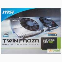 Продам новую видеокарту Msi Pci-Ex GeForce GTX 660 TF 2GB GDDR5