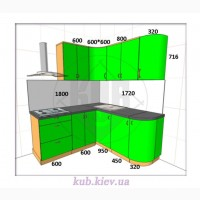 Кухни в киеве и кухонная мебель от торговой компании КУБ