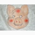 Карнавальная маска детская. марля, флок. Есть ОПТ
