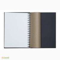 Скетчбук на пружине, белая+крафт+черная бумага, A5, 60л., ArtBook mix