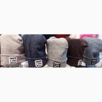 Тёплые мягкие зимние шапки на флисе для подростков, объём 50-58 см