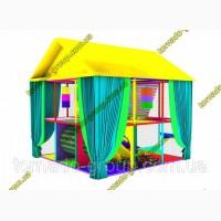 Лабиринт детский игровой для улицы Смайл крыша и шторы