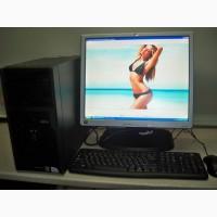 Продам полный комплект системный блок, компьютер 2 ядра FUJITSU ESPRIMO +монитор 19 дюймов