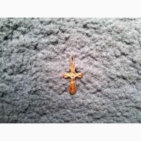 Продам золотой кулон-крестик (Иисус Христос) (б/у)