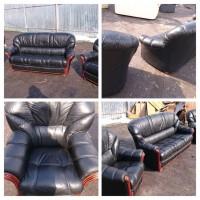 Диван + 2 кресла кожа. Производства Италии