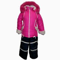 Детский зимний комбинезон Элла для девочек 3-4-5-6 лет в двух цветах