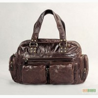 Продается большая стильная кожаная сумка тревелбег, винтажная кожа, унисекс