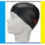 Детская шапочка для плавания Adidas Logo Silcap Y силиконовая черная