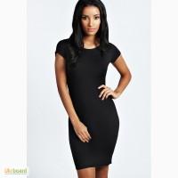 Оригинальное черное базовое платье