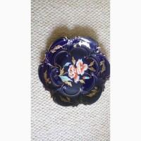 Продам б/у антикварное немецкое блюдо фарфор ильменау с позолотой
