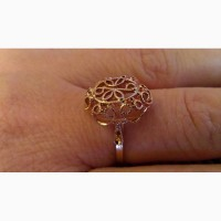 Кольцо позолота 18 размер