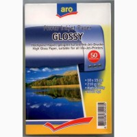 Фотобумага ARO Photo Inkjet Paper Glossy 210 г/м2 10х15 см 50 шт /упаковка