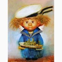 Купить Готовую Картина маслом в детскую комнату -Морячок