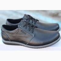 Мужские Туфли (Чоловічі туфлі) Черного цвета.Ecco