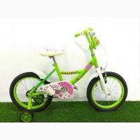 Lетский велосипед 16 дюймов для девочек Azimut Kathy 16 УЦЕНКА