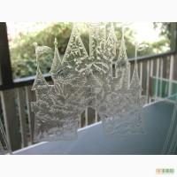 Эксклюзивные витражи рисунки морозом на стекле и зеркале.