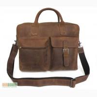 Продается деловая кожаная сумка с отделением для ноутбука для респектабельного мужчины