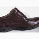 Florsheim Dorado туфли мужские кожаные коричневые на липучке