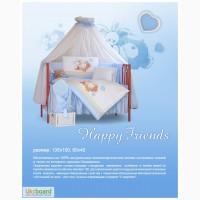 Детский постельный комплект белья Tuttolina Happy Friends