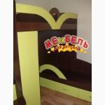 Детская двухъярусная кровать с угловым шкафом и лестницей-комодом (ал16) Merabel