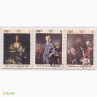 Почтовые марки Куба 1981. 6 марок Художественные произведения из музеев Кубы