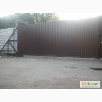 Откатные ворота (проф. настил) 2000*3000